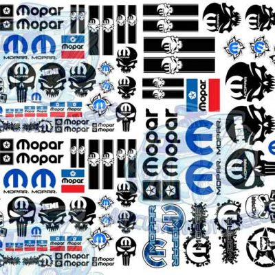 Mopar Hemi decals for Hot wheels and 1:64 diecast cars